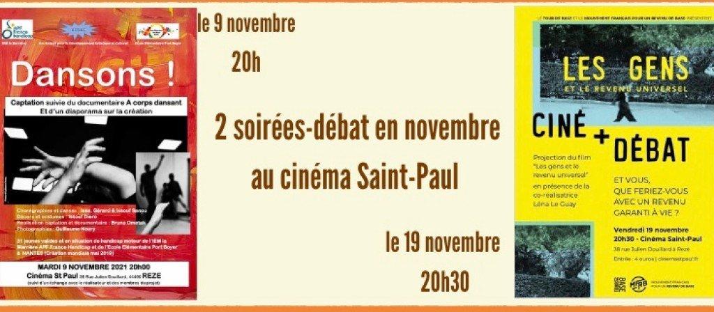 actualité Ciné-débats en novembre